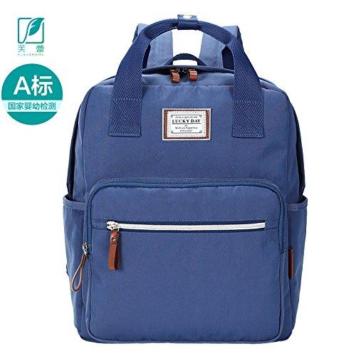 MLF-Cambio de pañal Pañales de bebé bolsa multifuncional Elegante bolso de hombro doble,negro B Blue