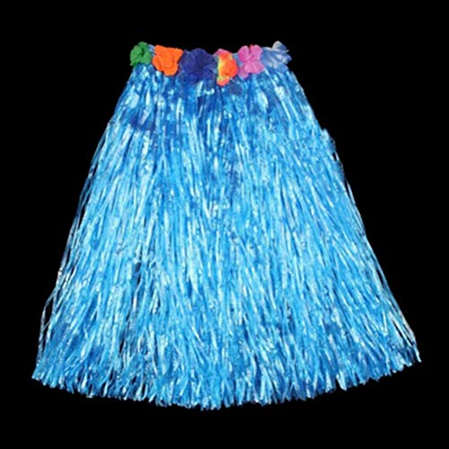 Party DIY Decorations - Hawaiian Costume Plastic Fibers Women Grass Skirts Hula Skirt With Flower Wholesale Ladies Dress Up - Hawaiian Girl Cake Hawaii Hula Hula Bonsai Confetti Hawaiian -