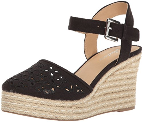 Skechers Cali Women's Turtledove Espadrille Wedge Sandal,black,8 M US