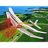 Sky Touch II Rubber Band Elastic Powered Glider Plane Kit Flying Model Toy by Amazona's presentz
