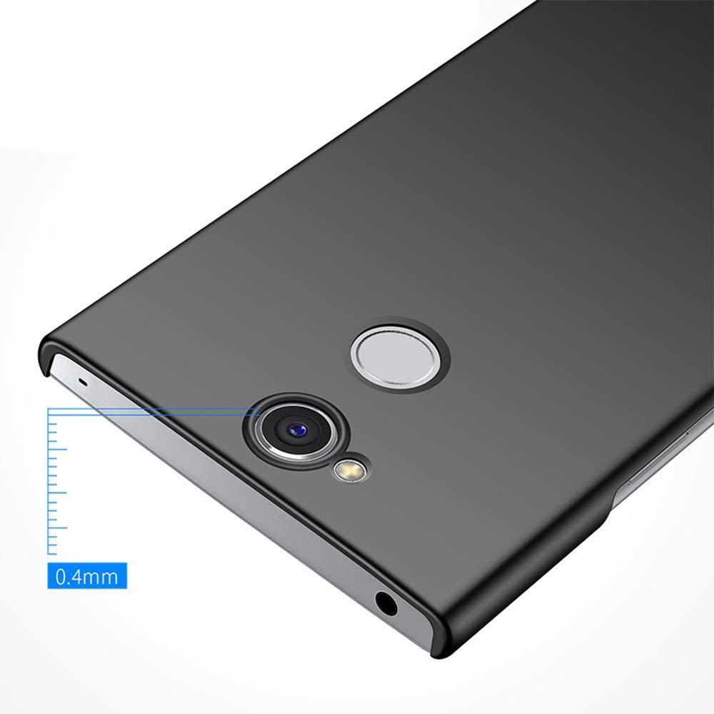 /étui de Protection Arri/ère pour Sony Xperia XA2 Plus S/érie Smooth Coque Sony Xperia XA2 Plus Ultra-Mince Housses Anti-Rayures Antichoc Plastique Dur Or Rose Lisse ZUERCONG