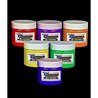 Glominex Blacklight UV Reactive Paint 2 Ounce Jars - Assorted