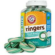 Arm & Hammer Ringers Fresh Breath Dental Treats for Dogs, Value Pack, 32 Pieces   Dental Chews Fight Bad Breath, Plaque & Tartar Without Brushing