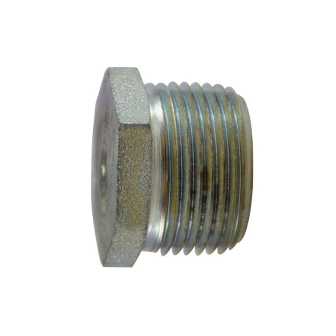 Midland 66-776 Galvanized Steel Hex Head Plug 1-1//4 NPTF Steel