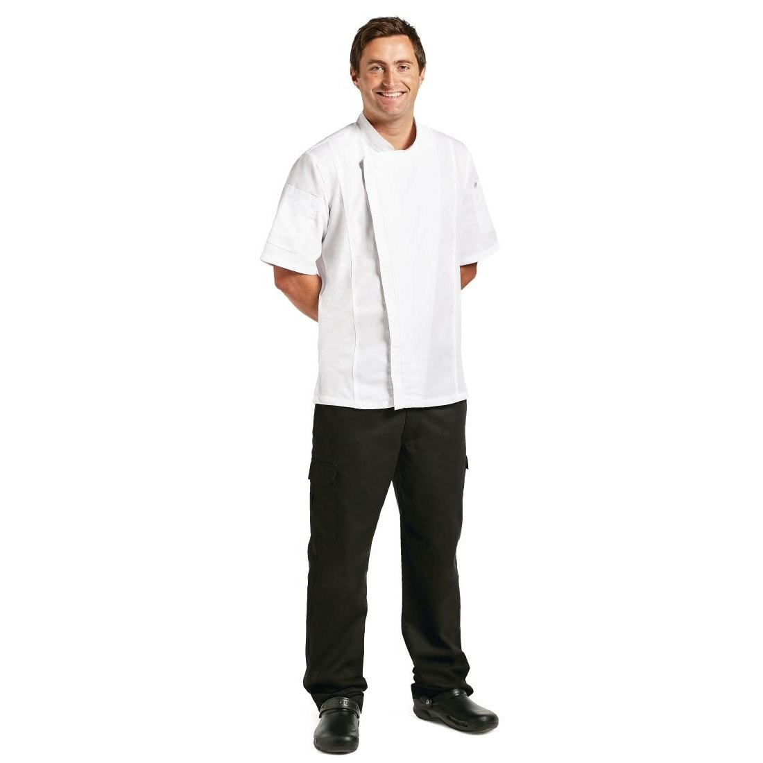 Chef Works Women's Springfield Chef Coat (BCWSZ006) BCWSZ006-BLK-XS