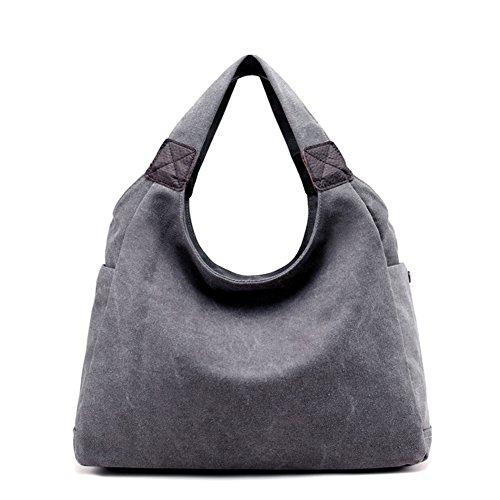 Womens borse,singola spalla /borsa di tela,borsa tempo libero-grigio grande