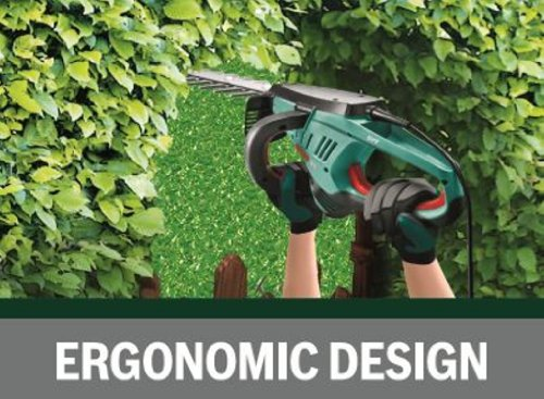 51htkRSXH9L - Bosch AHS 60-26 Electric Hedge Cutter, 600 mm Blade Length, 26 mm Tooth Opening