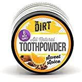 The Dirt All Natural Sweet Spice Trace Mineral Tooth Brushing Powder - 6 week supply, 10g