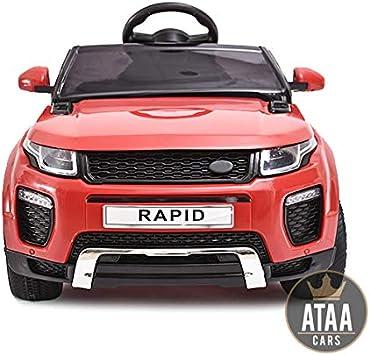 Oferta amazon: ATAA Coche eléctrico para niños con Mando Range Rapid 12v con Mando Estilo evoque - Rojo