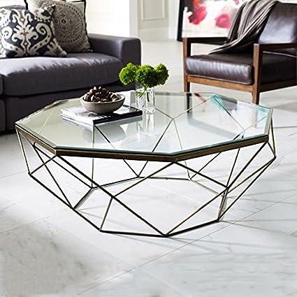 Tabla LZL mesa de café de vidrio endurecido de hierro ...