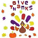 Thanksgiving Window Clings Wild Turkey
