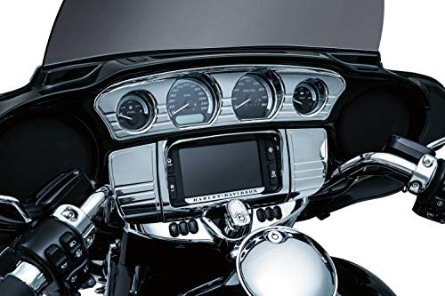 Kuryakyn 7284 Motorcycle Accent Accessory Chrome Tri-Line Gauge Trim for 2014-19 Harley-Davidson Touring /& Tri Glide Motorcycles