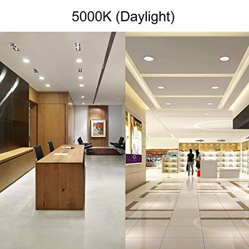 KINGOAL 13W 6 inch Ultra Thin Led Recessed Ceiling Light with Junction Box, 5000K Daylight Dimmable Downlight, 100W Equivalent for Hallway/Home/Offices (6 Pack)