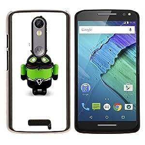 YiPhone /// Prima de resorte delgada de la cubierta del caso de Shell Armor - Toy Robot Verde Abeja Monster Hombre - Motorola Moto X3 3rd Generation