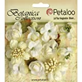 PETALOO Botanica Minis Decorative Flower, 1-Inch, White, 11-Pack