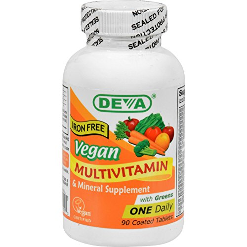 Deva Vegan Multivitamin and Mineral Supplement Iron Free - 90 Tablets (Pack of 2)