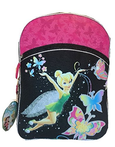 "Disney Tinkerbell 16"" Backpack Large Butterfly Black/Pink"