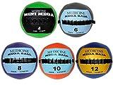 Ader Soft Mega Medicine Ball Set- 4, 6, 8, 10, 12 Lbs