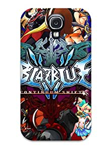 New Style 2046012K42128356 Faddish Phone Blazblue Case For Galaxy S4 / Perfect Case Cover