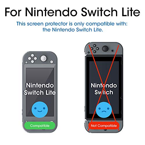 amFilm Tempered Glass Screen Protector for Nintendo Switch Lite 2019 (3-Pack)