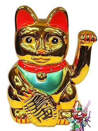 12,5 cm Glückskatze ~ Winkekatze Maneki Neko ~ Fortune Cat
