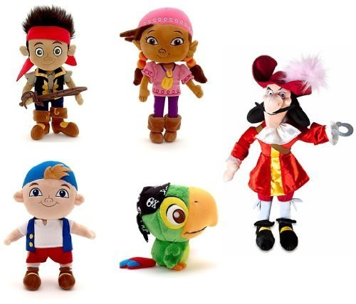 Disney Store Disney Junior Jr. Jake and The Never Land/Neverland Pirates Plush Stuffed Doll Toy Gift Set Including 12