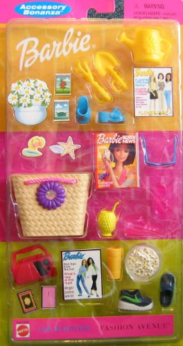 Barbie Accessory Bonanza Fashion Avenue Fun Activities Pack (2000) (Barbie Radio De)