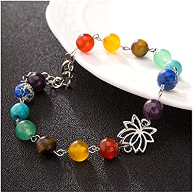 Doitsa 1pcs perlas colores pulsera energía Yoga Lotus Colgante Pulsera Tobillo accesorios de moda para uñas pulsera joyas