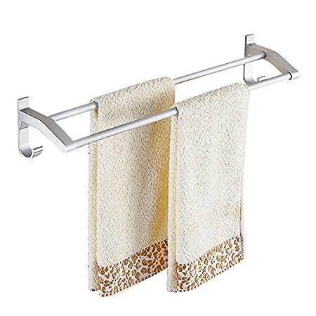 KaO0YaN-Towelrack Porte-serviettes espace de/bain en/aluminium/salle de bain pendentif /épais porte-serviette tige double p/ôle double/,/poin/çonnage/60cm