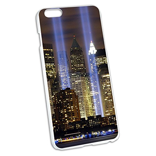 New York City Skyline Sky Lights Snap On Hard Protective Case for Apple iPhone 6 Plus