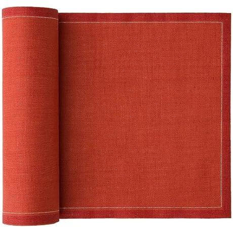 MYdrap Linen Placemat 18 9 Length X 12 6 Width Slate Orange 10 Rolls Of 12