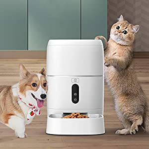 ZISITA-Automatic-Pet-Feeder-for-Cats-Dogs-Automatic-Pet-Food-Dispenser-with-Voice-Recorder-IR-Detect-and-Digital-Timer-Programmable-Cat-Food-Dispenser