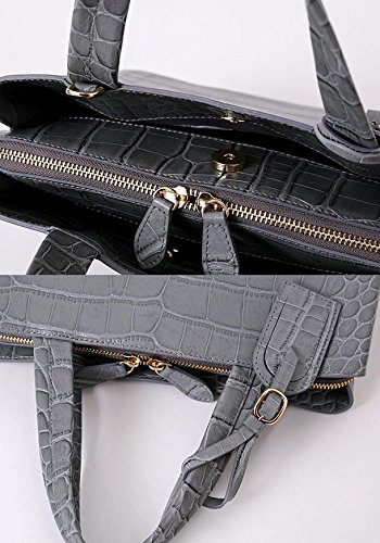 Bellina Wani Tote Shoulder Bag BB1218 (Grey) by Pristine&BB (Image #9)