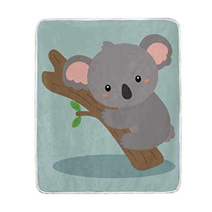 Amazon.com  MOFEIYUE Cute Koala Bear Throw Blanket Soft Microfiber ... ae480c6bc2