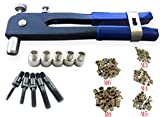 Muzata Heavy Duty Blind Rivet Nut Kit Set, Riveter Tool, Rivet Nut Gun, Thread Hand Riveter, Rivet Gun, Riveting Tools with 100PCS Metric Rivet Nuts Included M3 M4 M5 M6 M8