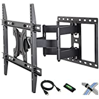 Tilt-Swivel Wall Mount with 6 Feet HDMI Cable, Cable Ties and Leveler for 42 to 70-Inch Screen