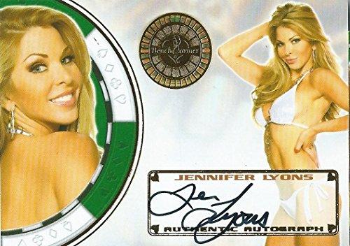 - 2013 Bench Warmer Vegas Baby JENNIFER LYONS Autograph Auto Card