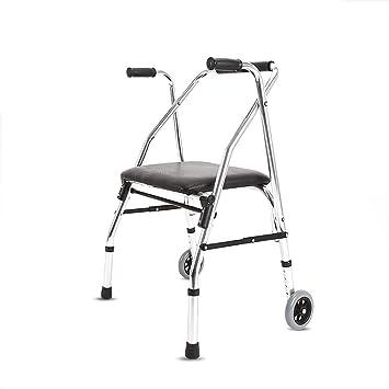 B WALKER Andador Plegable, Andador de Rodillos de Aluminio ...