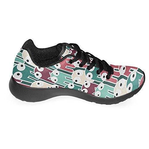 Interestprint Mujeres Jogging Running Sneaker Ligero Go Easy Walking Casual Comodidad Deportes Zapatillas De Dibujos Animados Octopus Multi 1