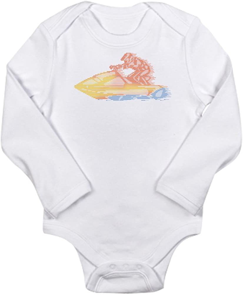 CafePress Jet Ski Cute Long Sleeve Infant Bodysuit Baby Romper Cloud White