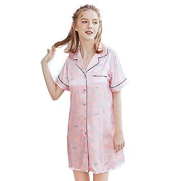 41138b0e7c MEMIND Pijamas de Seda Sra cómodos del Ocio de Salto de Cama Albornoz  Mujeres Atractivas de