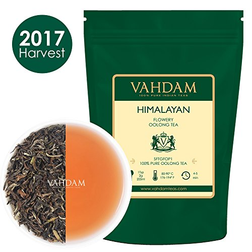 Himalayan Flowery Oolong Tea Leaves (50 Cups), Hand-Picked Oolong Tea Loose Leaf, 100% NATURAL Detox Tea, 3.53oz, Weight loss Tea & Slimming Tea, A Perfect Everyday Loose Leaf Oolong Tea, Healthy Tea