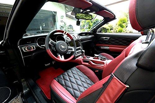Amazon.com: Ford Mustang 2015-16 cubierta del volante de RedlineGoods: Automotive