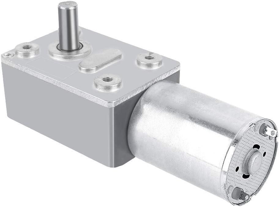 DC 12V Motor de Reducción de Velocidad Motor de Engranaje Motor de Alta Tensión Reversible (40RPM)