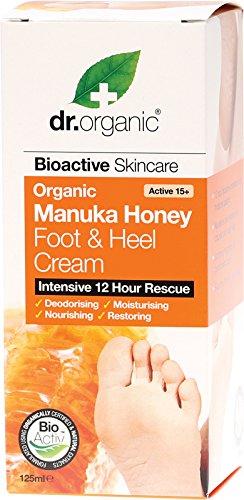 Dr organic manuka honey foot & heel cream 125ml DRC03015 DRC03015_-125