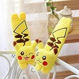 Finex Set of TWO - Pokemon Pikachu Yellow Plush Car
