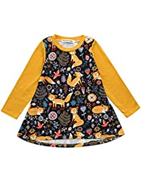3be4e798826 Baby Girls Dress Baby Girl Floral Deer Feather Donuts Print Princess  Pageant Holiday Dresses Christmas Dress · Tanhangguan