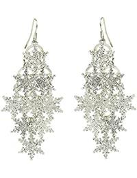 Glitter Snowflake Christmas Xmas Dangle Earrings