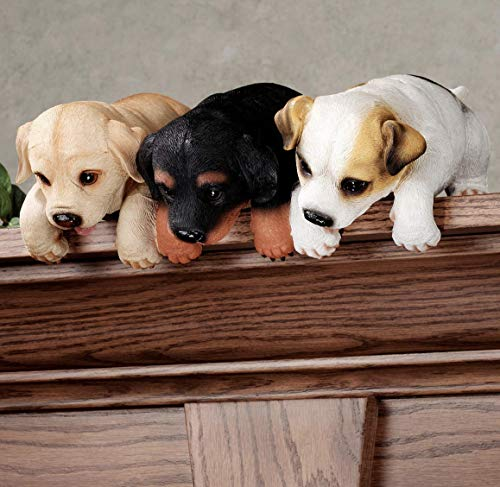 (Touch of Class Puppies Shelf Sitter Statue Figurine Sculpture Dog Animal Lover Decor)