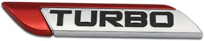 Dsycar 3d Metall Turbo Turbocharged Auto Aufkleber Logo Emblem Abzeichen Aufkleber Aufkleber Auto Styling Diy Dekoration Zubehör Für Universal Cars Moto Fahrrad Auto Styling Dekorative Zubehör Rot Auto